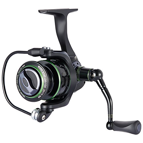 Piscifun Spinning Reel Lightweight Smooth Fishing Reel 2000 Series 5.1:1 10+1BB 17.6LB Carbon Fiber Drag Spin Reels