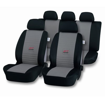 Amazon.es: Coche Auto auto asiento fundas Asiento Fundas Fundas Asiento GT Turbo gris negro para Seat Alhambra, Arosa, Cordoba, Ibiza, Toledo, Leon