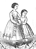 1869 Princess Dress for Young Girls Pattern