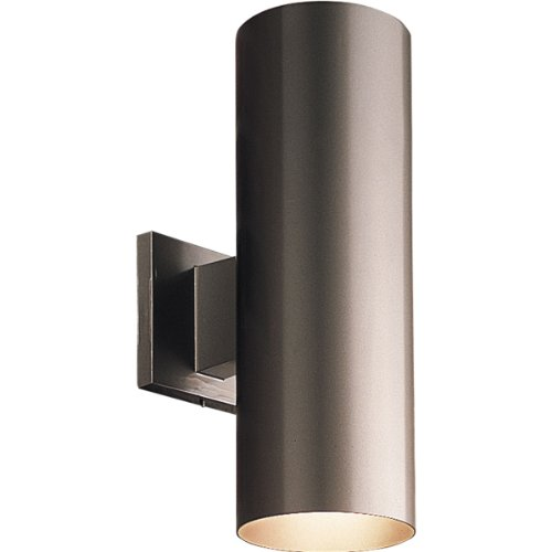Progress Lighting P5675-20 5-Inch Up/Down Cylinder with Heavy Duty Aluminum Construction and Die Cast Wall Bracket Powder Coated Finish UL Listed For Wet Locations, Antique - Light Sconce Down 2