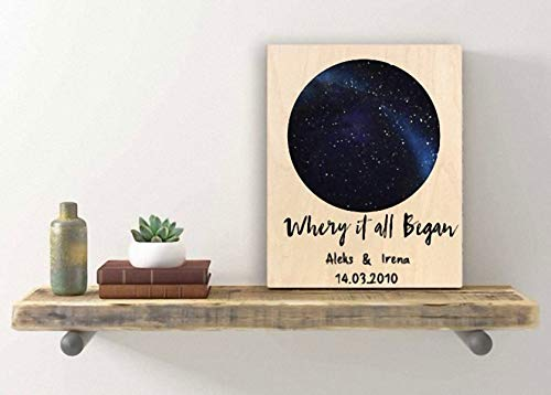 Amazon Com Personalized Star Map Sign Anniversary Gifts For