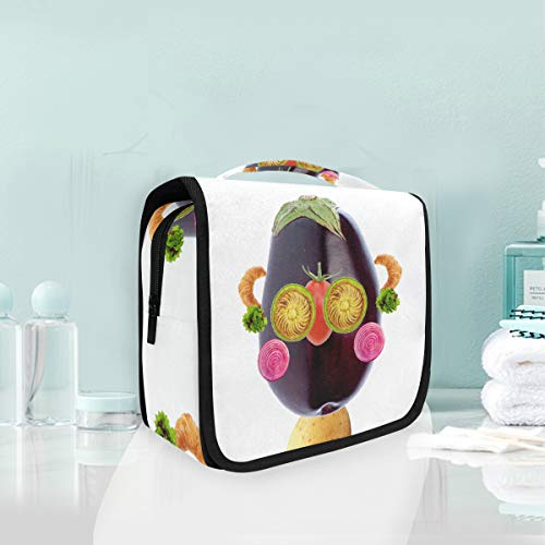 Cosmetic Makeup Toiletry Bag Travel Fruit Food Produce Activity Vegetables Character Hanging]()