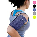 Phone Armband Sleeve: Best Running Sports BLUE Arm Band Strap Holder Pouch Case for Exercise Workout Fits iPhone 5S SE 6 6S 7 8 X Plus iPod Android Samsung Galaxy S5 S6 S7 S8 Note 4 5 Edge LG HTC (XL)