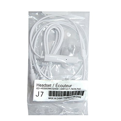 Get Samsung OEM 3.5mm Tangle Free Stereo Headset with Microphone, Call Answer/End Button and Volume Controls for Samsung Galaxy S7 S6 S5 S4 S3 (Bulk Packaging) deliver