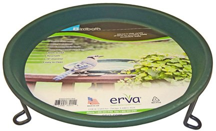 Erva BA5SL Bird Bath - Ground Level - Black Wire Ring with Forest Green Dish ()