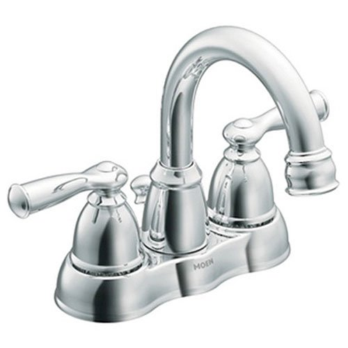 Handle Centerset Bathroom Faucet from the Banbury Collection, Chrome (Chrome 4' Showerhead)