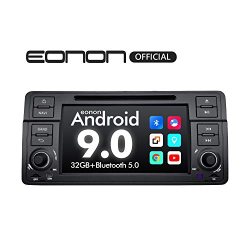 Eonon Car Stereo Car Radio, 7 Inch Android 9.0 Car Radio, 32GB ROM Car Stereo with Bluetooth Support Android Auto Apple Carplay/Bluetooth 5.0/WiFi/Fast Boot/DVR/Backup Camera/OBDII-GA9350 (Bmw Professional Radio)