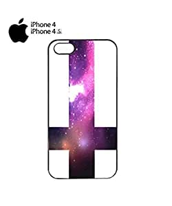 Inverted Cross Galaxy Mobile Cell Phone Case Cover iPhone 4&4s Black