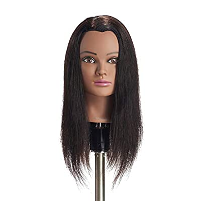 "Hairginkgo 18-20"" 100% Human Hair Training Practice Head Styling Dye Cutting Mannequin Manikin Head"