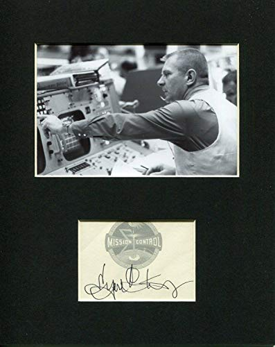 Eugene Gene Kranz NASA Flight Director Space Signed Autograph Rare Photo Display from HollywoodMemorabilia