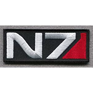 Super Patch MASS EFFECT N7 TACTICAL COMBAT MILSPEC 3.5 INCH HOOK PATCH and Free eBook