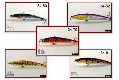 Akuna Pack of 5 Magic Minnow Series 4.3 inch Topwater Fishing Lure [BP 5 FLA 34 A]