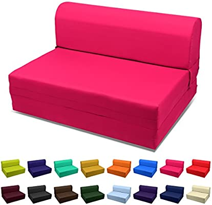 Wondrous Magshion Futon Furniture Sleeper Chair Folding Foam Bed Choose Color Sized Single Twin Or Full Single 5X23X70 Hot Pink Alphanode Cool Chair Designs And Ideas Alphanodeonline