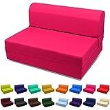 Sleeper Chair Folding Foam Bed Choose Color & Sized Single,twin or Full (Twin (5x36x70), Hot Pink)