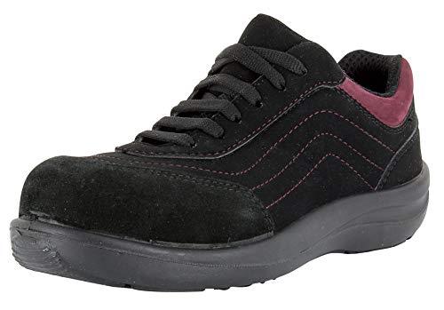 Baskets Chaussures S1p De Julia Foxter Sécurité Basses Femme Cuir qfAaIWw5