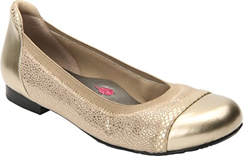 Ros Hommerson Mujeres Ronnie Ballet Flat Gold Combo