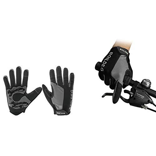 Gants Équitation Vélo Gris Complet Amdxd Protection Plein Doigt Sports Hommes Air Cyclisme De Solaire xt0wOOqECW