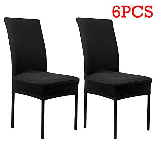 Stretch Stuhlhusse, schwarz, 6 Stück