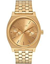 Nixon Unisex Time Teller Deluxe All Gold One Size