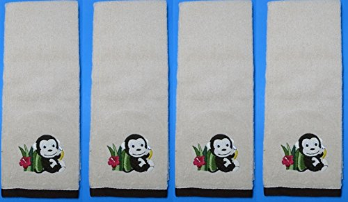set-of-4-bed-bath-and-beyond-motion-monkey-cotton-hand-towels