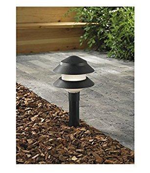 Portfolio Black Low Voltage 4-Watt Incandescent Path Light, Model # 0093818