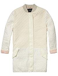 Scotch & Soda Maison Scotch Women's Safari Colorblock Quilted Jacket, Ivory, Medium