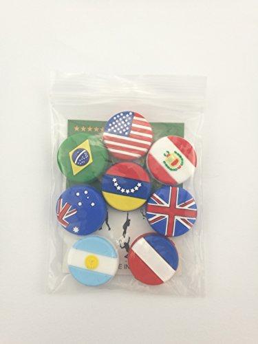 Amazon.com: siliou colorboy 8 de banderas de países silicona ...