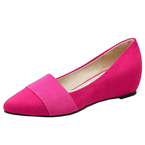 Women Increasing School Fashion Red Pointed Girls Height Sweet Shoes TAOFFEN Toe Pumps aqdgBdw