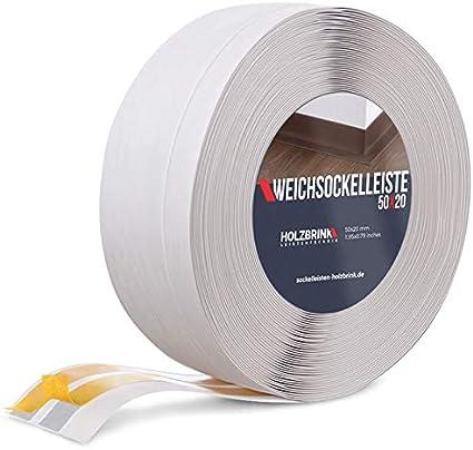 100x25 mm 5 m HOLZBRINK Plinthe Souple Auto-Adh/ésive de Couleur Graphite Plinthe Cass/ée PVC