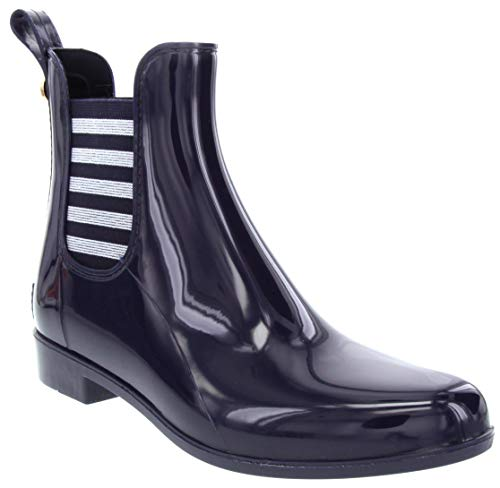 London Fog Womens Typhoon Rain Boot Navy 7
