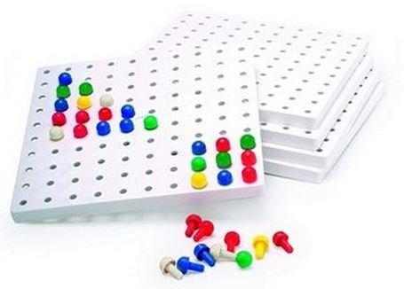 Amazing Child Montessori 5 Peg Boards (no pegs) by Amazing Child Montessori