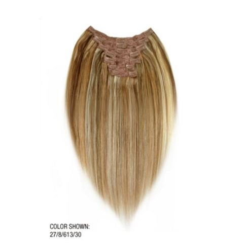 LORD & CLIFF SEVEN PIECE STRAIGHT REMY HAIR CLIP IN EXTENSION 20'' #27/8/613/30