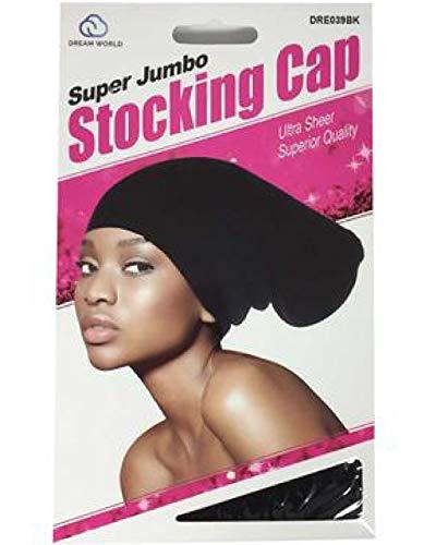Dream 2 Packs Super Long Dreadlocks Jumbo Rasta Stocking Wave Hat Cap Rastafari Spandex -