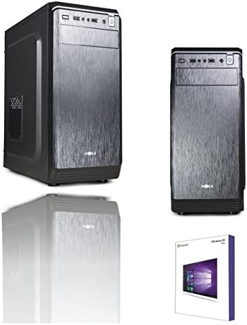 PC DESKTOP INTEL QUAD CORE CPU FINO A 2,42GHZ LICENZA WINDOWS 10 PROFESSIONAL 64 BIT ORIGINALE CASE ATX 500W RAM 8GB RAM HD 1TB HDMI DVI VGA WIFI 300 MB DVD RW ASSEMBLATO PRONTO USO UFFICIO E HOME