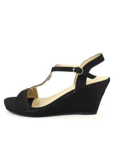 Cinks Me Femme Cendriyon Chaussures Noir Compensée Noire pqxFRTwz6