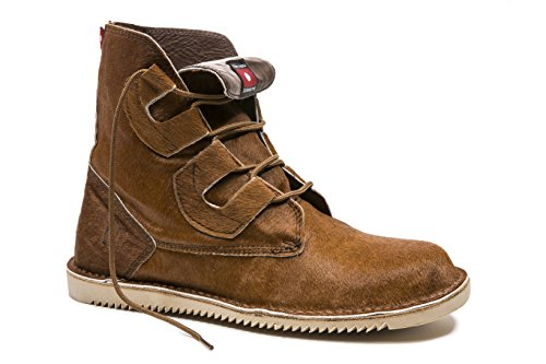 Oliberte Men's Mojoo Natural Brown Hair 40/7 Combat Boot by Oliberte