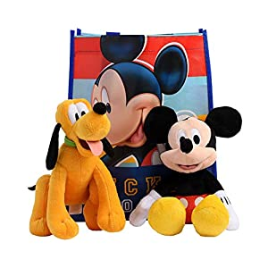 Disney 11″ Plush Mickey Mouse 2-Pack in Gift Bag (Mickey & Pluto)