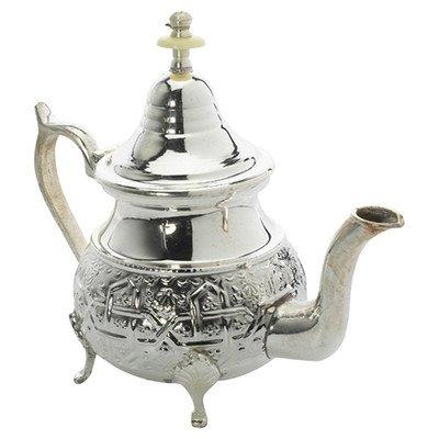 Casablanca Market Moroccan Teapot, Large, Silver