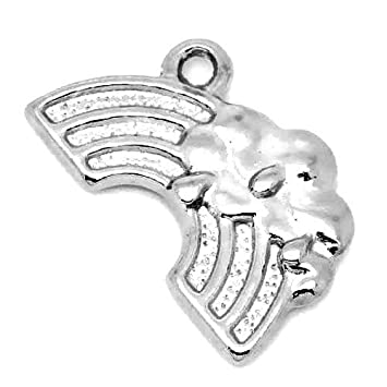 HA11850 Paket 6 x Antik Silber Tibetanische 10 x 15mm Endkappen Kumihimo Charming Beads