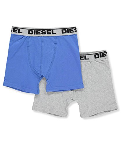 Diesel Kids Boys Clothing (Diesel Boys' 2-Pack Boxer Briefs - Blue/Gray, l)