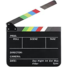 Neewer Dry Erase Director's Film Movie Clapboard Cut Action Scene Clapper Board Slate with Colorful Sticks