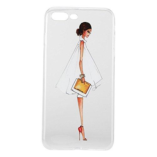 Für Apple iPhone 7 Plus (5,5 Zoll) Hülle ZeWoo® TPU Schutzhülle Silikon Tasche Case Cover - HX011 / Side Gesicht Mädchen