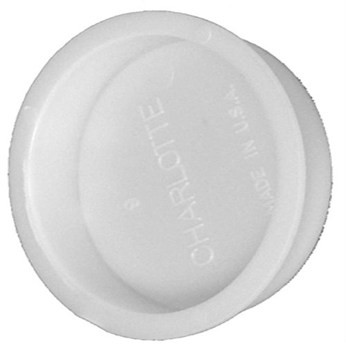 - Charlotte Pipe & Foundry PVC 00131 1200HA PVC/DWV Pipe Fitting, Test Cap, White, 4-In. - Quantity 1