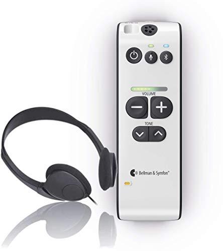 Bellman Maxi Pro Sound Amplifier w/Bluetooth - Hearing Assist & Listening Voice Enhancer Device for Conversation, Phone, TV, Music - Ergonomic, User-Friendly Design - Headphones Included