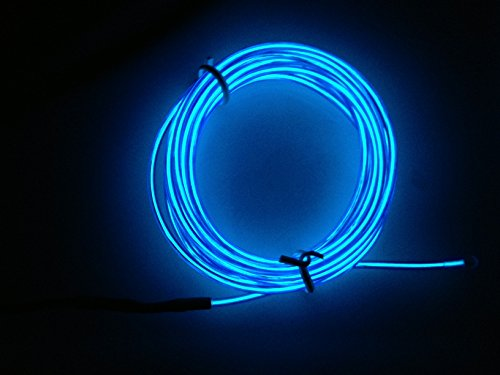 5M FLEXIBLE NEON LIGHT GLOW EL WIRE ROPE TUBE CAR DANCE PARTY MOTORCYCLE RAVE