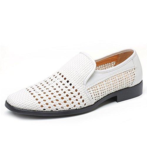 Agujero Los del Vestir Sandalias Negocios De Sandalias Zapatos Sacador De Armadura Transpirables Nuevos Verano white De De De Hombres Cuero XIAOLONGY La PHpzEwqP