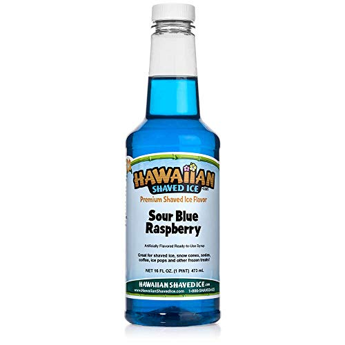 Hawaiian Shaved Ice Syrup, Sour Blue Raspberry