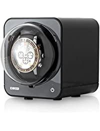 Fancy Brick Stackable Watch Winder for Single Automatic Watch (with AC Adapter) (Black)