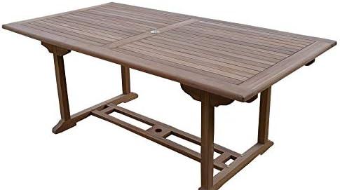 Teak Garden Table >> Field Hawken Henley Solid Teak 6 Seater Rectangular Garden Table 1 6 M
