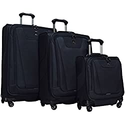 "Travelpro Maxlite 4 3-Piece Luggage Set: 29"", 25"" Expandable Spinners and Under Seat Bag Carry On (Black)"
